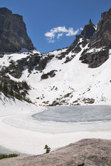 Wall Mural - Emerald lake, Rocky Mountain National Park, CO, USA
