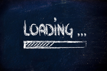 loading, progress bar on blackboard