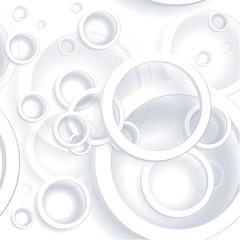 Seamless paper rings geometrical vector pattern.