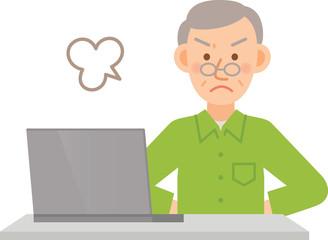 シニア男性 PC