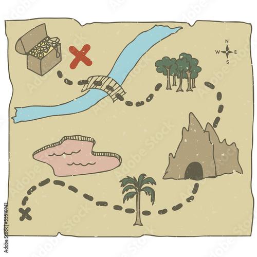 """Treasure Map"" Стоковое изображение и роялти-фри векторный файл на Fotolia.ru - Pic 55510941"