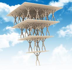 Die Gesellschaftspyramide