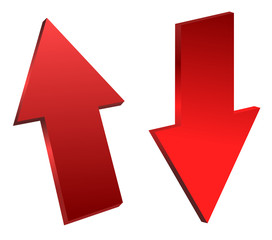 Red Top and Down Arrow