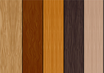 Color wood samples. Vector.