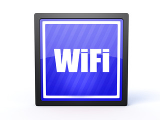 wifi rectangular icon on white background