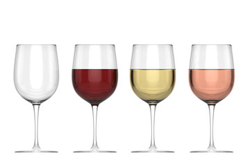 Glasses Of Wine - Set
