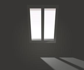 Window in White Interior Backdrop