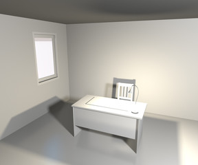 White Office Interior Backdrop