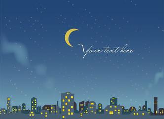 night scene - city background - vector