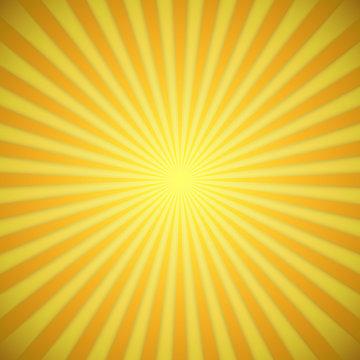 Sunburst bright yellow and orange background