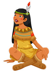 Indian native American girl