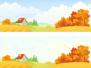 Rural autumn banners