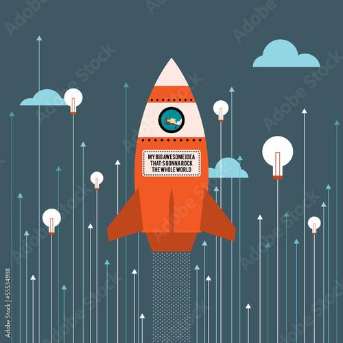Wall mural Big Idea Rocket