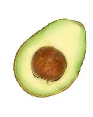 Slice of avocado.