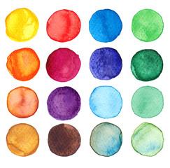 Farbige Aquarell-Punkte