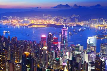 Hong Kong skyline from the peak