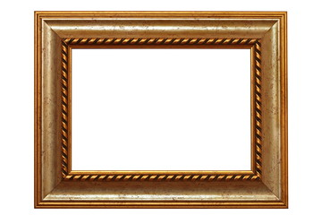 isolated beautiful old frame