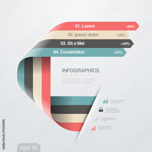 Infographic design styles
