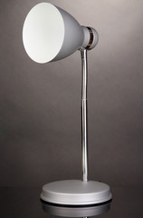 Table lamp on grey background