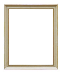 White Wooden Picture Frame Isolated On White