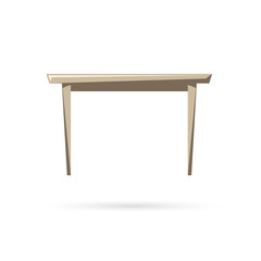 Table isolated on a white backgrounds. Vector illustration