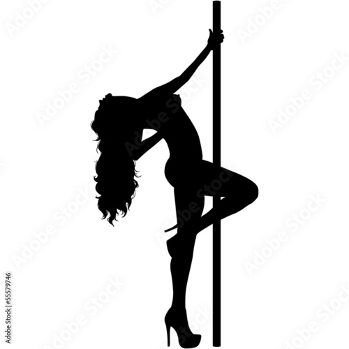 vector silhouette of a stripper. vector silhouette of a stripper  Stock image and royalty free