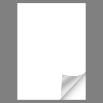 Leeres Blat DIN A4 Papier