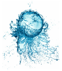 splash water ball isolated