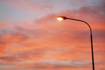 Electric Street lamp at dawn Fotomurales