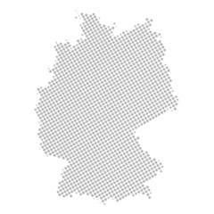 deutschlandkarte grau gepunktet I