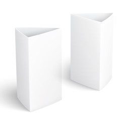 Blank paper vertical triangle cards.
