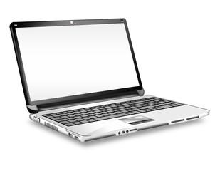 Fototapeta Laptop, Notebook,  freigestellt vektor obraz