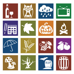 Autumn Flat icons for Web and Mobile Applications