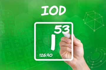 Symbol für das chemische Element Iod