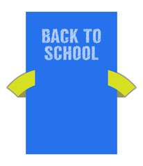 Back to school banner with special sketch design