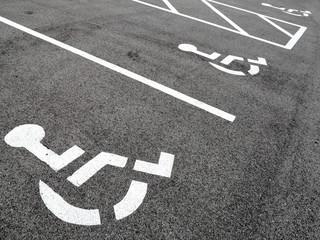 Handicap parking spots