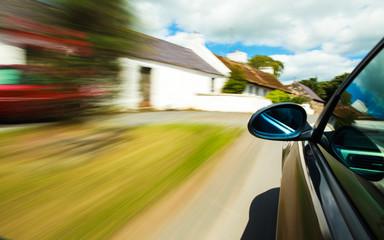 Fototapete - Mirror view of sport car.