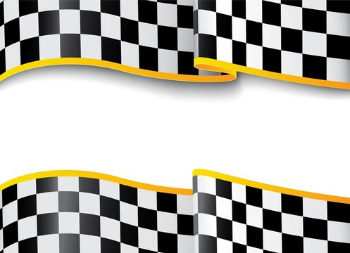 Race background. Checkered black and white