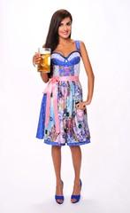 Bavarian Girl im Dirndl with Beer