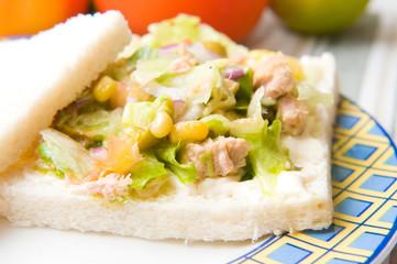 salad sandwich with tuna