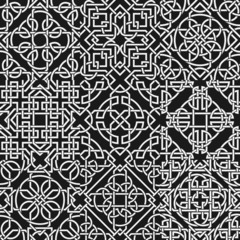 Set of celtic seamless pattern