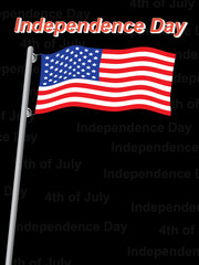 Independence day background vector illustration