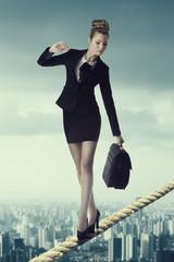 portrait of worried business woman