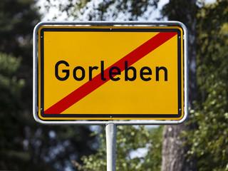 Ortsausgangsschild Gorleben