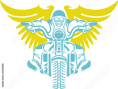 Wall mural masterfitness-flying-biker