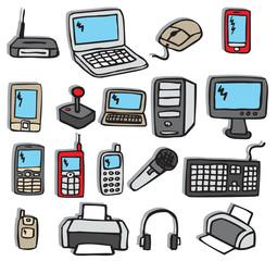 Icons - Electronics 3 (colors)