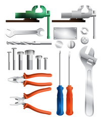 collection of tools, eps10 vector