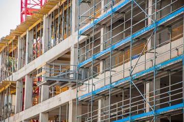 Concrete building is under construction