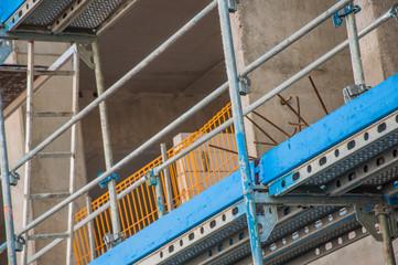 Construction site of concrete edifice