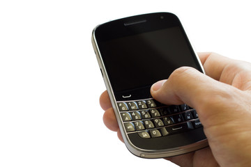 Hand bedient Smartphone